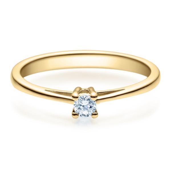 Rubin Verlobungsring 18010 Gelbgold Solitär Ring 0,100 ct.