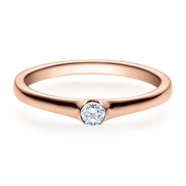 Rubin Verlobungsring 18022 Rotgold Solitär Ring 0,100 ct.
