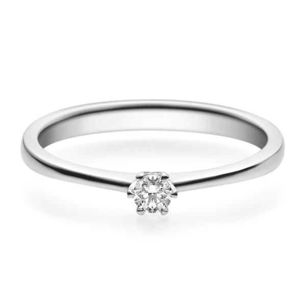 Rubin Verlobungsring 18016 Platin 950 Solitär Ring 0,100 ct.