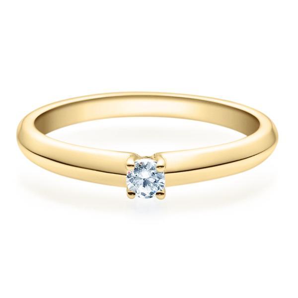 Rubin Verlobungsring Gelbgold Solitär Ring 18004 Zirklonia 3 mm