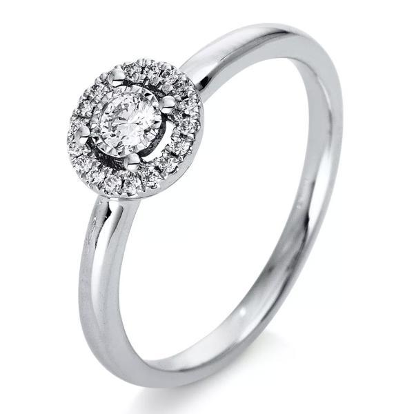 DiamondGroup Halo Ring 18 kt Weißgold - 1Q200W853-4