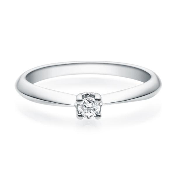 Rubin Verlobungsring 18009 Silber 925 Solitär Ring 0.100 ct.