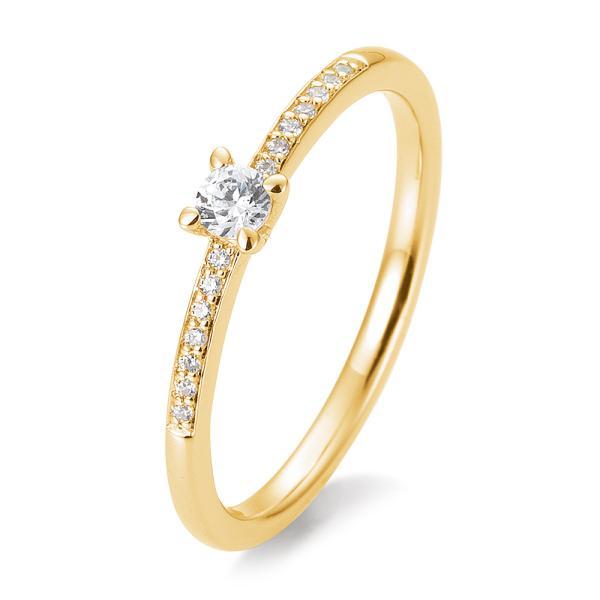 Breuning Verlobungsring Antragsring Gelbgold 585 Brillant 41/85950