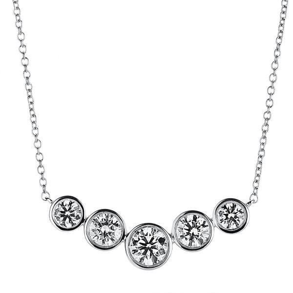 DiamondGroup Diamantcollier Collier Zarge 18 kt Weißgold - 4A791W8-2