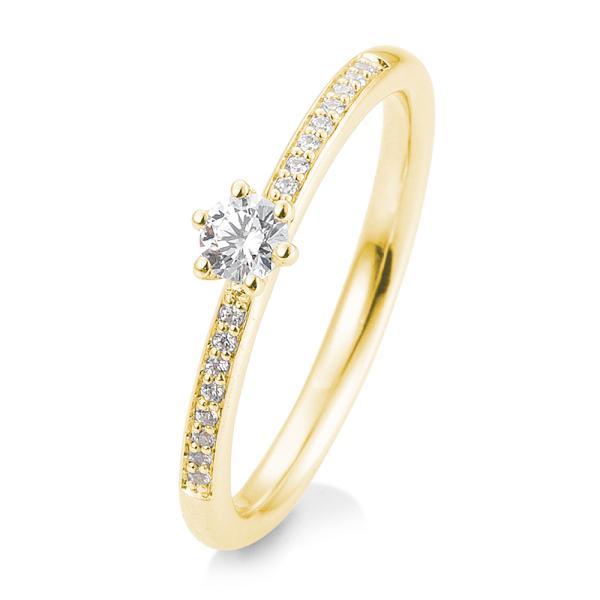 Breuning Verlobungsring Gelbgold 585 Brillant 6er Krappe Verschnitt 41/05804