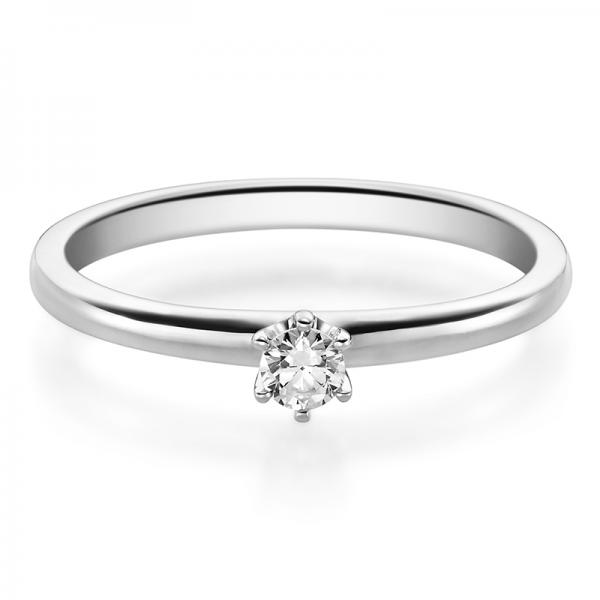 Rubin Verlobungsring 19002 Weißgold Solitär Ring