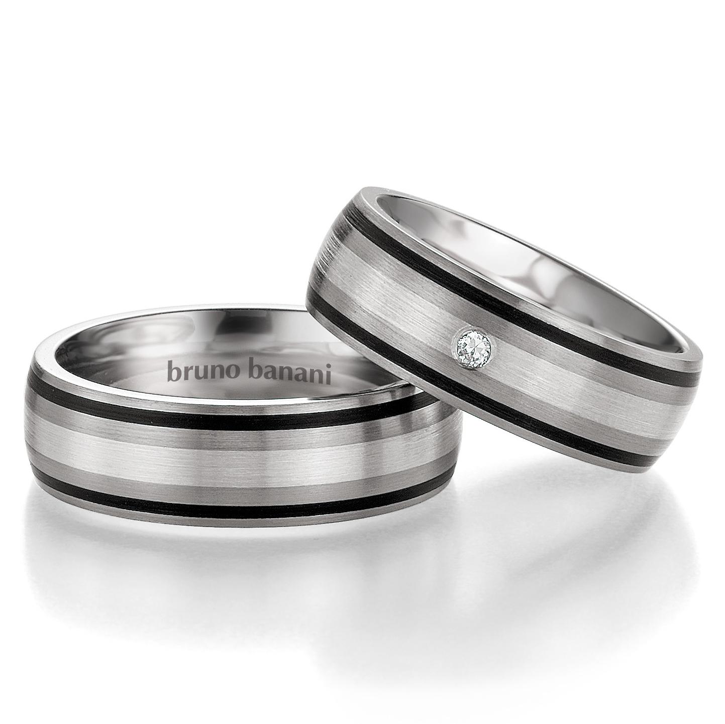 Bruno Banani Ringe Titan mit Silber 42.83190 44.83191