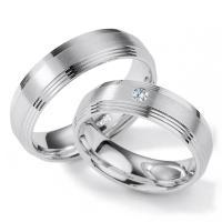 Collection Ruesch Trauringe Silber 55/01200 White Stlye Silver Brilliance