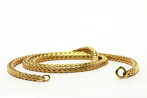 massive Gold 585/000 Halskette 45 cm, TAUNE-00005