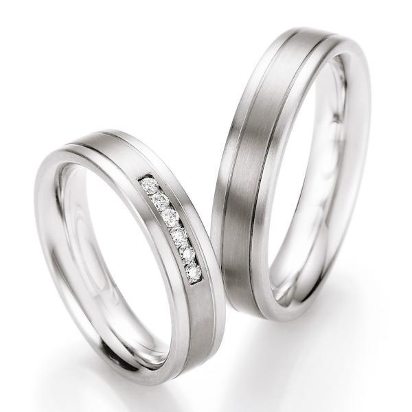 Ruesch Ringe Verlobungsringe Titan Stahl TS606B TS606
