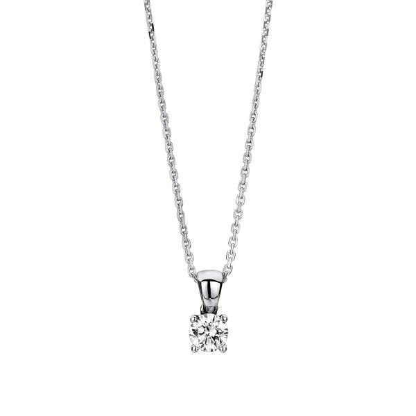 DiamondGroup Diamantcollier Collier 4er-Krappe 14 kt Weißgold - 4A327W4-1
