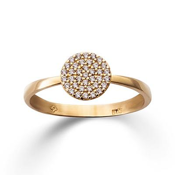 Ring Gelbgold 585 Zirkonia Palido K11633G