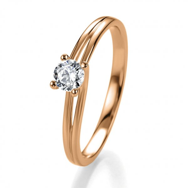 Antragsring Rotgold mit Brillant 0,20 ct 41/53060