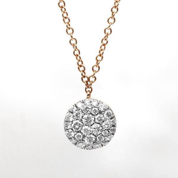 DiamondGroup Diamantcollier Collier 18 kt Rotgold - 4B188R8-2