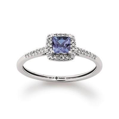 Ring Rotgold 585 Tanzanit Brillant Palido K11551W
