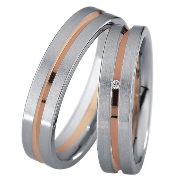 Saint Maurice Stahl-Gold-Ringe 88200 88201