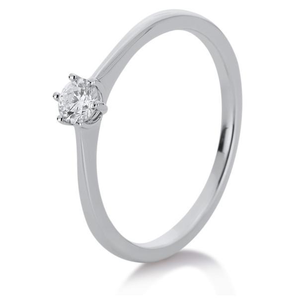 DiamondGroup Ring 6er-Krappe 14 kt Weißgold - 1A330W454-4