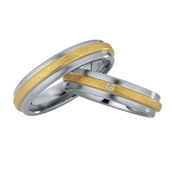Saint Maurice Stahl-Gold-Ringe 88216 88217