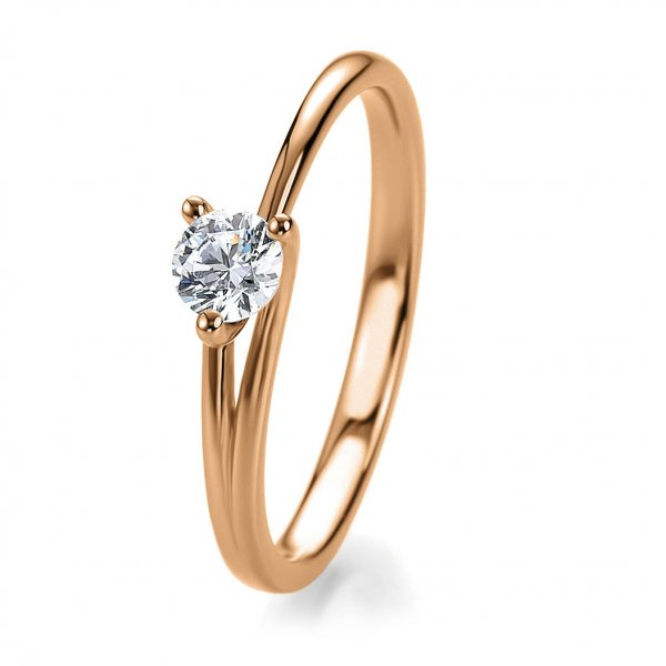 Antragsring Rotgold mit Brillant 0,20 ct 41/53030