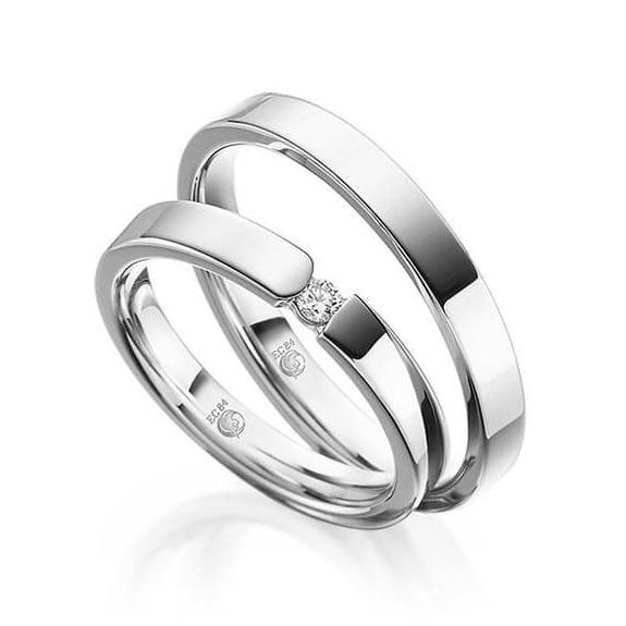 Rubin Eheringe 1074 Silber 925