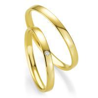 Trauringe Gelbgold Basic Slim Breuning 48/04301 & 48/04302