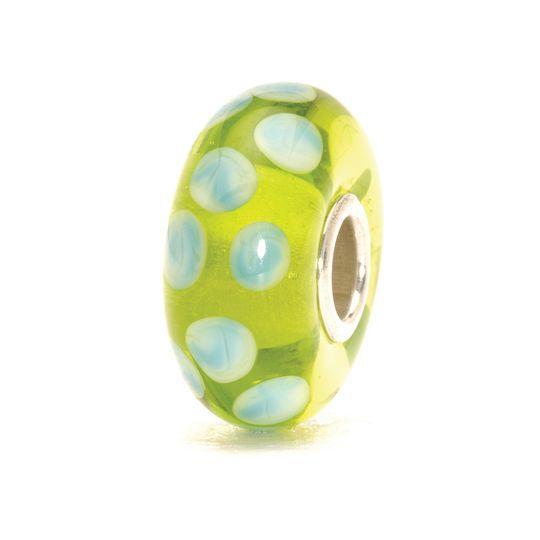 Trollbead TGLBE-10014,Grüne Tupfen, weiße und blaue Tropfen Lise Aagaard