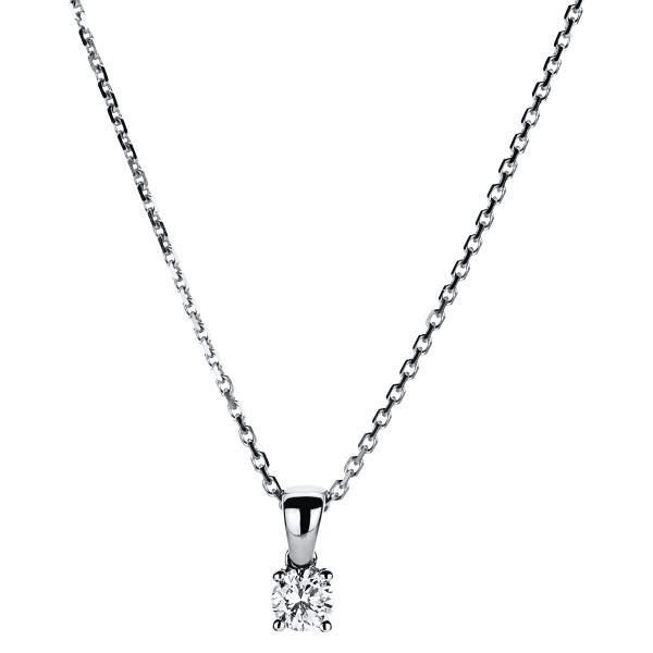 DiamondGroup Diamantcollier Collier 4er-Krappe 14 kt Weißgold - 4A323W4-1