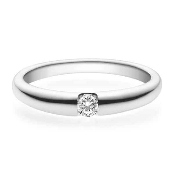 Rubin Verlobungsring 18005 Weißgold Solitär Ring 0.100 ct.