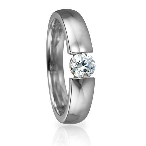 Solitaire Ring 82126 Brillant 0,40 ct Weißgold