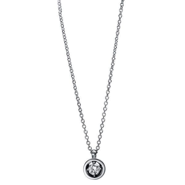 DiamondGroup Diamantcollier Collier 4er-Krappe 18 kt Weißgold - 4E017W8-2