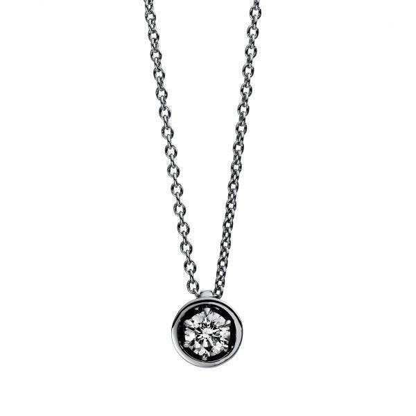 DiamondGroup Diamantcollier Collier 6er-Krappe 18 kt Weißgold - 4E010W8-2