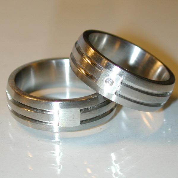 Stahl Einzelring Silber Weite 60