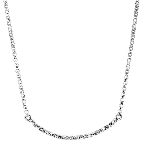 DiamondGroup Diamantcollier Collier 18 kt Weißgold - 4A070W8-2