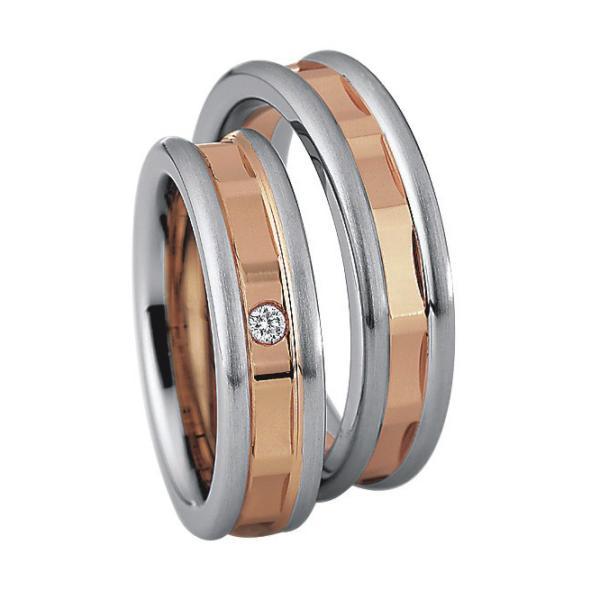 Saint Maurice Stahl-Gold-Ringe 88204 88205