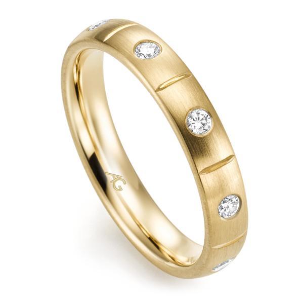 Memoire Ring Gelbgold 585 Brillant Gerstner 29760/3.7
