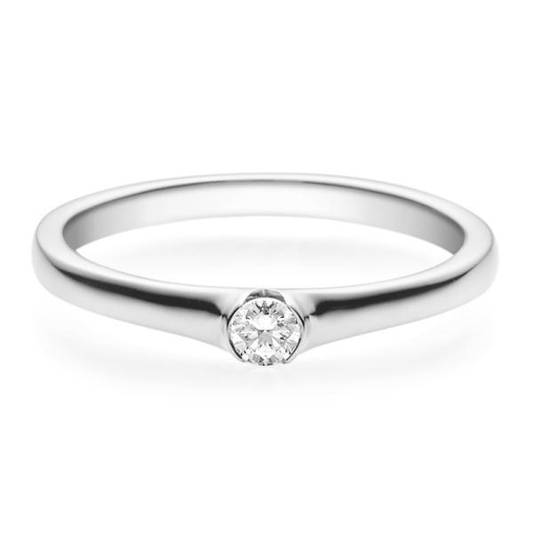 Rubin Verlobungsring 18022 Silber 925 Solitär Ring