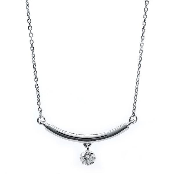 DiamondGroup Diamantcollier Collier 14 kt Weißgold - 4B203W4-1